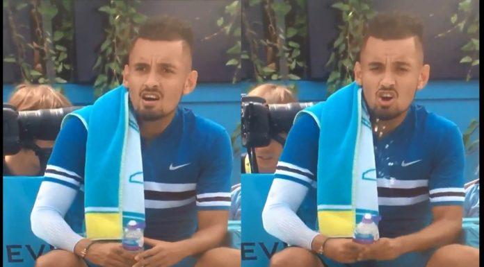 Tennis, Kyrgios compie gestaccio: la multa