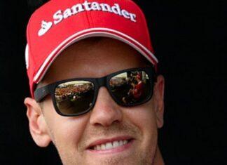 Vettel sulla Ferrari